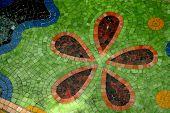 Whimsical Mosaic Floor