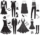 Vector Fashion Clothes And Accessories For Weman For Design