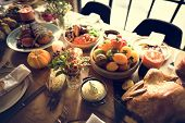 Roasted Turkey Thanksgiving Table Setting Concept poster