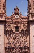 pic of taxco  - Main facade in Taxco church Mexico silver town - JPG