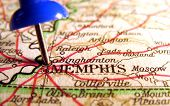 stock photo of memphis tennessee  - Memphis Tennessee the way we looked at it in 1949 - JPG