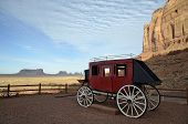 stock photo of stagecoach  - A stagecoach at Goulding - JPG