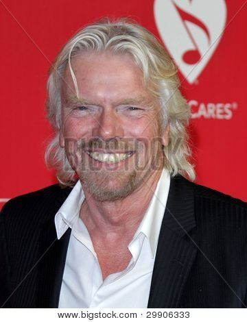 LOS ANGELES - FEB 10:  Richard Branson arrives at the 2012 MusiCares Gala honoring Paul McCartney at LA Convention Center on February 10, 2012 in Los Angeles, CA