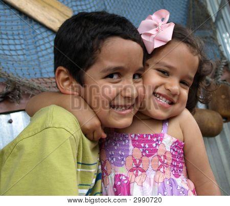 Affectionate Siblings