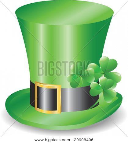 Irish hat replicon with three clover trefoils