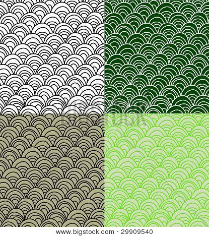 set of vector squamous textures