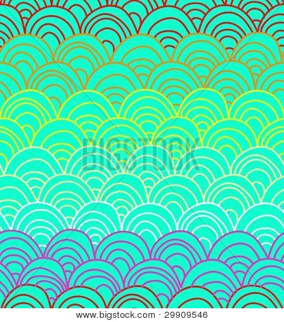 squamous textures in bright colors