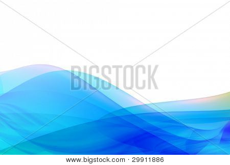 blue waves illustration no: 1