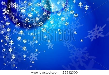 christmas and winter snow background