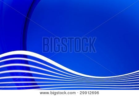 waves on blue background