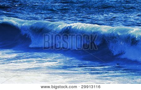 rolling sea waves on a bright day (water series B)