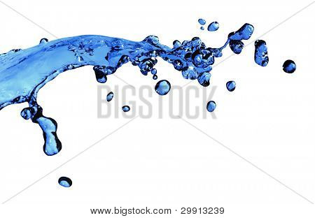 Water Splash isoliert; (Makro Wasser Serie b)