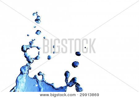 isolated macro waterdrops (water series B)
