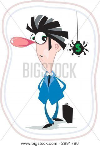 Man And Dollar Spider