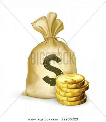 Moneybag and coins, 10eps