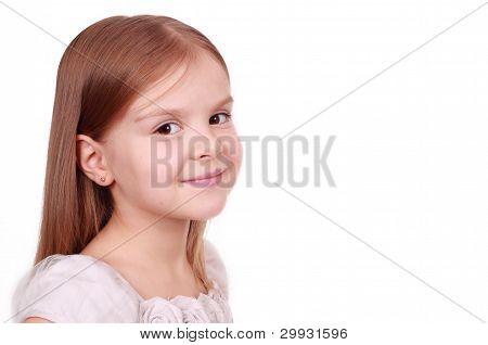 cute girl is looking on camera