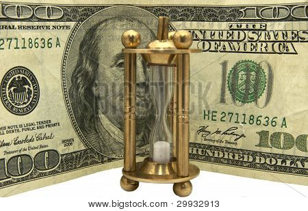 Dollars and hourglass