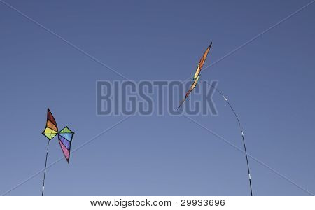Blue Sky And Flags