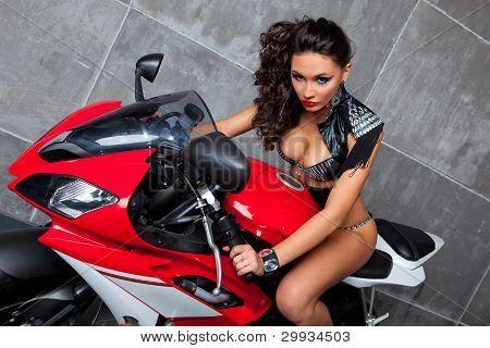 Sexy Girl On Sportbike