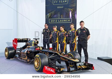 Presentation Of The Lotus Renault E20, 2012