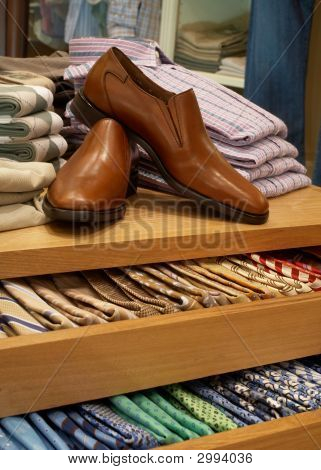 Shoes And Necktie Display