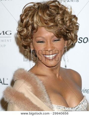 LOS ANGELES - FEB 10:  Whitney Houston arrives at the Clive Davis Annual Pre-Grammy Party at Beverly Hilton Hotel on February 10, 2007in Beverly Hills, CA