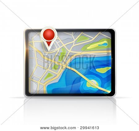 GPS map, vector