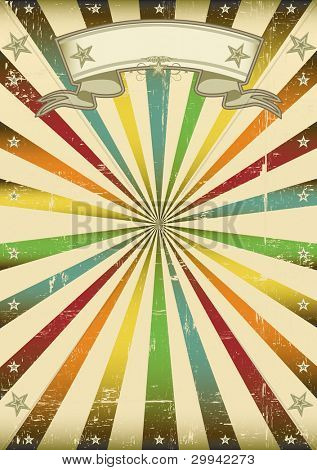 Multicolor vintage background. A vintage multicolor background for a poster.