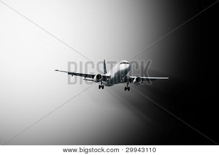 Passenger Plane - Abstract Composition