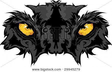 Gráfico de mascota de ojos de Pantera