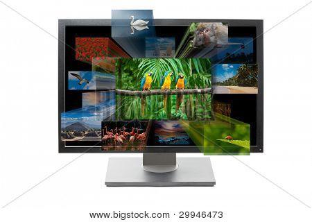 3d television tv set concept