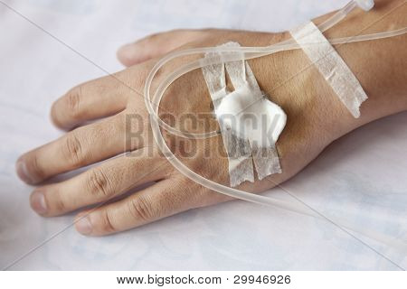 Patient with IV drip
