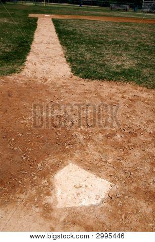 Homeplate On Baseball Field