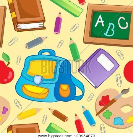 Escola de fundo sem emenda do tema 1 - ilustração do vetor.