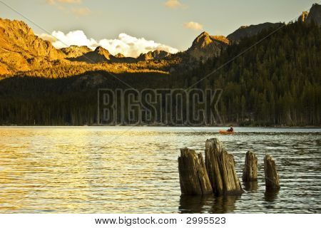 Alpenglow At Lake Mary