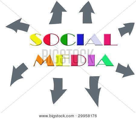 Colorful Abstract With Word Social Media