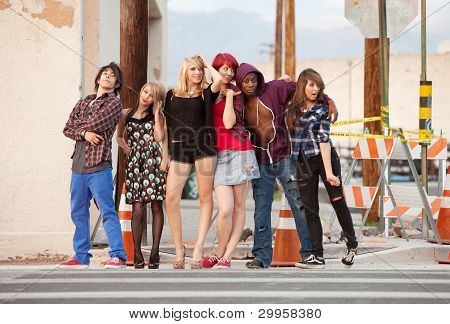 Young Punky Teen Group Photo
