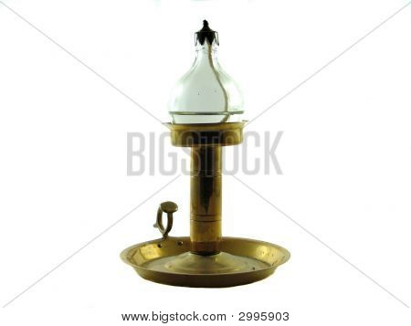 Antique Oil Lamp Isolated