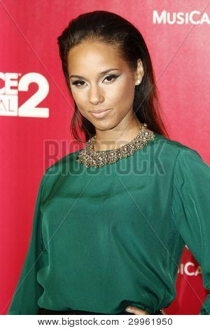 LOS ANGELES, CA - FEB 10: Alicia Keyes at the 2012 MusiCares Person of the Year Tribute To Paul McCartney at the LA Convention Center on February 10, 2012 in Los Angeles, California