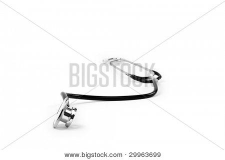 stetoskop on a white background