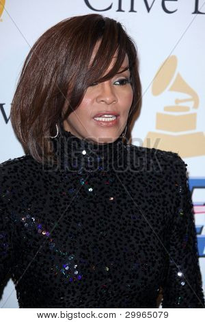 LOS ANGELES - FEB 12:  Whitney Houston at the 2011 Pre-GRAMMY Gala And Salute To Industry Icons  at Beverly Hilton Hotel on February 12, 2011 in Beverly Hills, CA