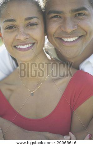 Close up portrait of couple