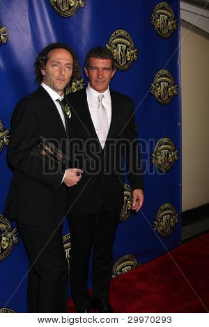 LOS ANGELES - FEB 12:  Emmanuel Lubezki, Antonio Banderas at the Press Area of the 2012 American Society of Cinematographers Awards at the Grand Ballroom on February 12, 2012 in Los Angeles, CA