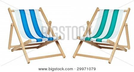 Two Deckchair (with Clipping Path)
