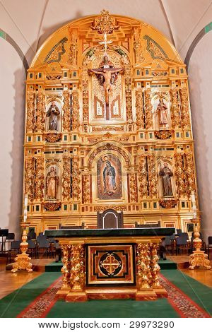 Golden Altar Mission Basilica San Juan Capistrano Church California