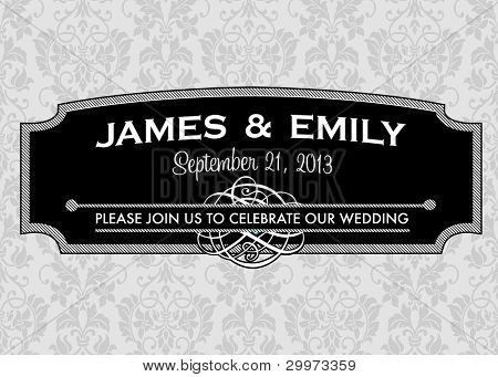 Vector Ornate Striped Frame. Easy to edit. Perfect for invitations or announcements.