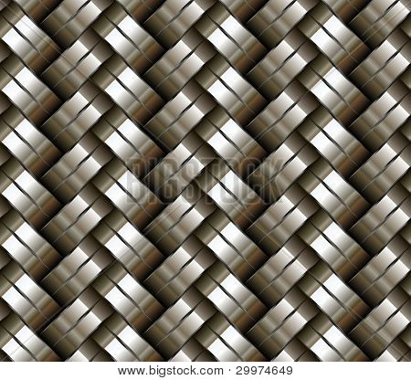 Woven metal seamless background - texture pattern for continuous replicate.