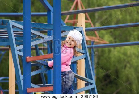 The Child On A Playgroud