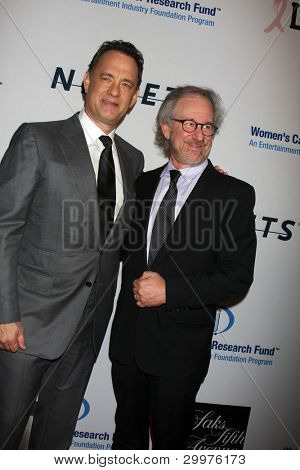 LOS ANGELES, CA - JAN 27: Tom Hanks & Steven Spielberg at the