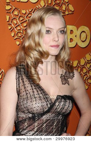 LOS ANGELES, CA - JAN 17: Amanda Seyfried at the 67th Annual Golden Globe Awards HBO After Party at The Beverly Hilton Hotel on January 17, 2010 in Los Angeles, California